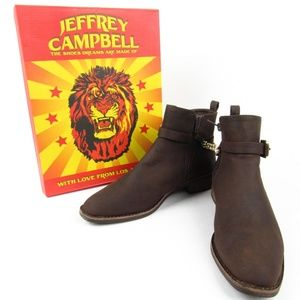 Jeffrey Campbell Womens 8 Leather Boots Brown